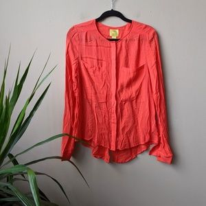 Maeve Anthro Clara Button Down Pocket Blouse sz 10